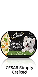 Cesar Simply Crafted, Cesar Wet Dog Food, Meal Topper, Dinner, Pet Food