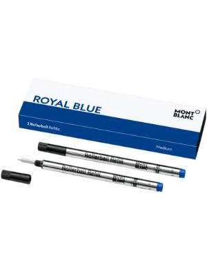 Montblanc 124504 Recambios de punta mediana para Rollerball – Recargas de alta calidad Royal Blue, 1 paquete x 2 Recargas: Amazon.es: Oficina y papelería
