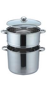Couscoussier professionnel 8 litres Inox tout feux et induction