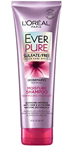 Ever, color treated hair, sulfate free, loreal