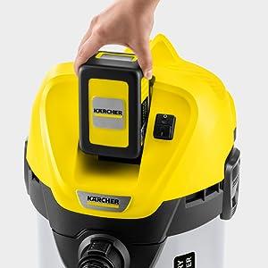 Kärcher Aspirador Multiuso Wd 3 Baterías Premium, 67 W, 17 litros, Sin batería y con control de encendido, Metal, Negro, Amarillo, Model nuevo: Amazon.es: Hogar