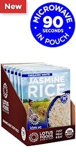 Lotus Foods Organic White Jasmine Heat amp; Eat Rice Pouch