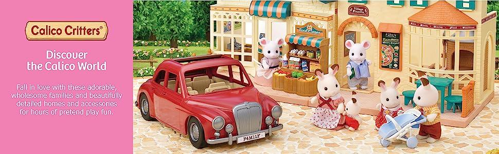 car, vehicle, family car, town, lil woodzeez, camping, dolls, dollhouse, figures, cherry cruiser