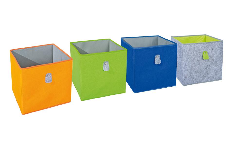 Inter Link Faltkiste Faltbox Faltbare Aufbewahrungsbox Mit Metallose Aus Stoff In Grun Amazon De Kuche Haushalt