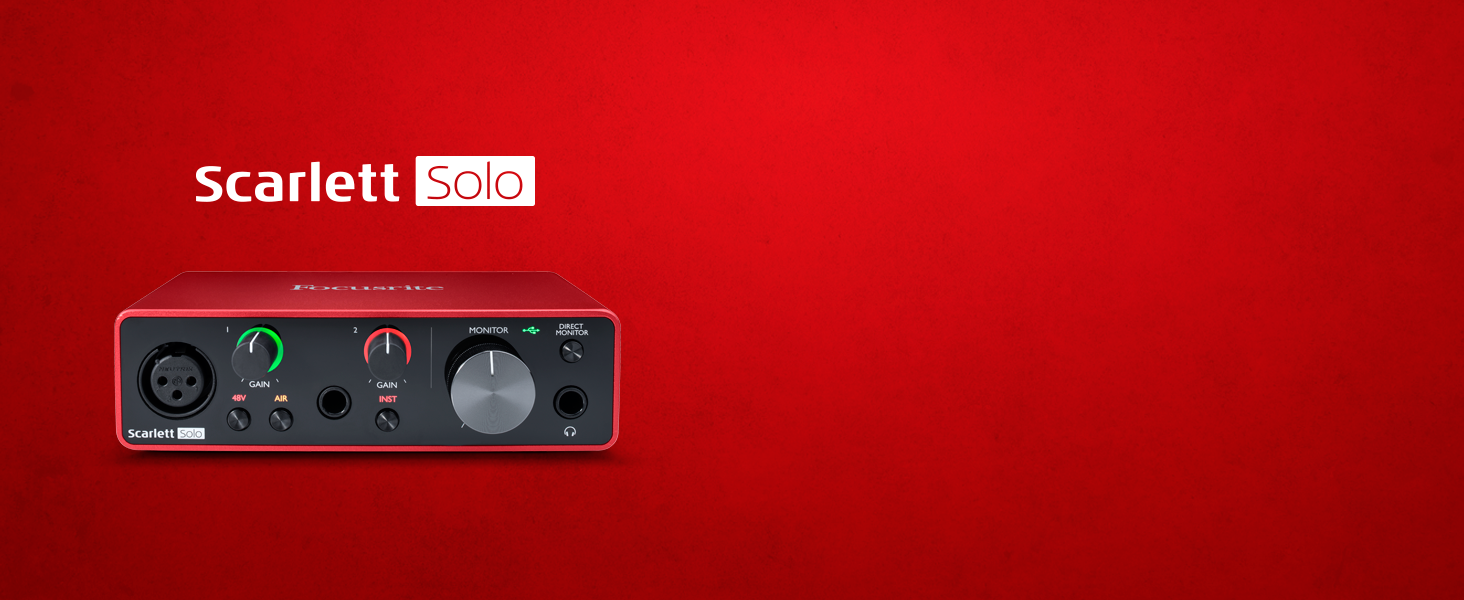 The perfect audio interface for a singer-songwriter