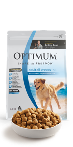 optimum, wet dog food, dry dog food, dog food