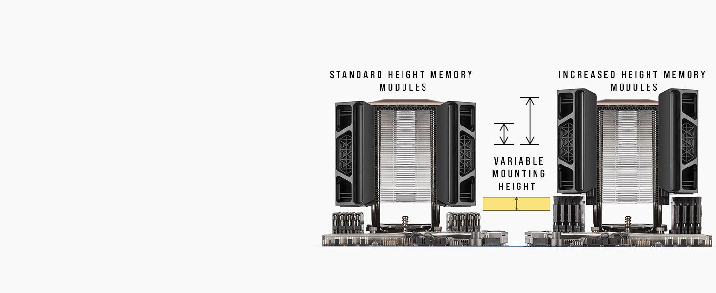 A500 HIGH PERFORMANCE DUAL FAN CPU COOLER