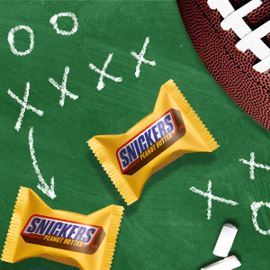 Enjoy delicious Snickers Crunchy Peanut Butter Chocolate Candy at the game.