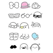 doodle, kawaii, draw, accessories