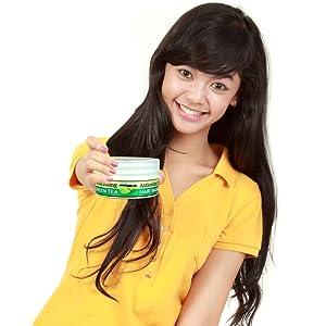 Green tea antioxidant rich hair mask