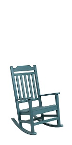 All-Weather Rocking Chair in Teal