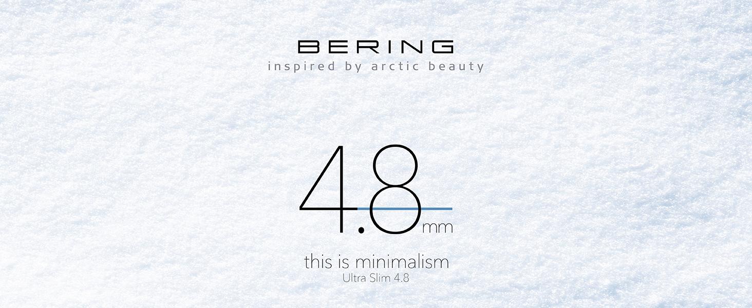 Bering Orologi Orologio in Vetro Zaffiro Ultra Slim Uomo Donna Design Classico Acciaio Inossidabile