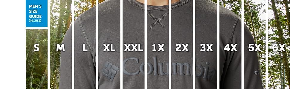 Men's sweatshirt sizing