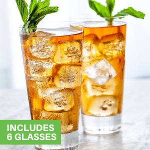 These crystal drinking glasses are great for upgrading the look of any cocktail.