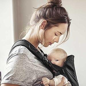 BABYBJÖRN Porte-bébé WE Noir, Coton  Amazon.fr  Bébés   Puériculture b59e6271462