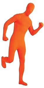 orange bodysuit, catsuit, orange costume
