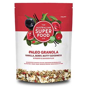 Vanilla Berry Nutty Goodness organic gluten grain free non gmo healthy breakfast snacks cereal