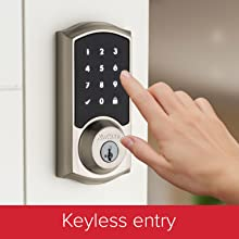Keyless entry touchscreen deadbolt