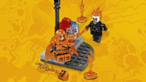 Ghost Rider uses his fire chain to capture the Hobgoblin