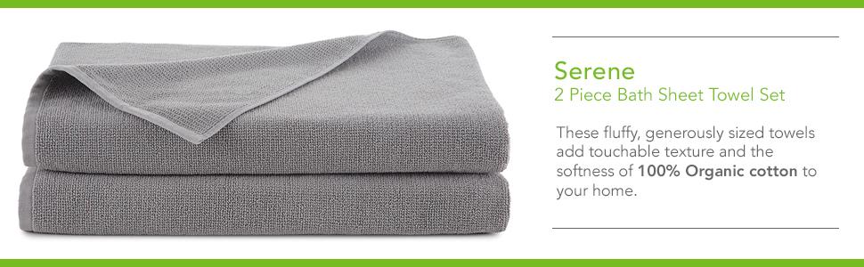 EcoPure Towels Towel Towel Set Bath Set Bath Organic Towels Organic Soft Towel Soft Comfortable