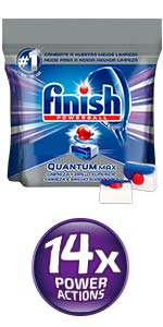 Finish Quantum Regular Pastillas para Lavavajillas, 40 pastillas ...