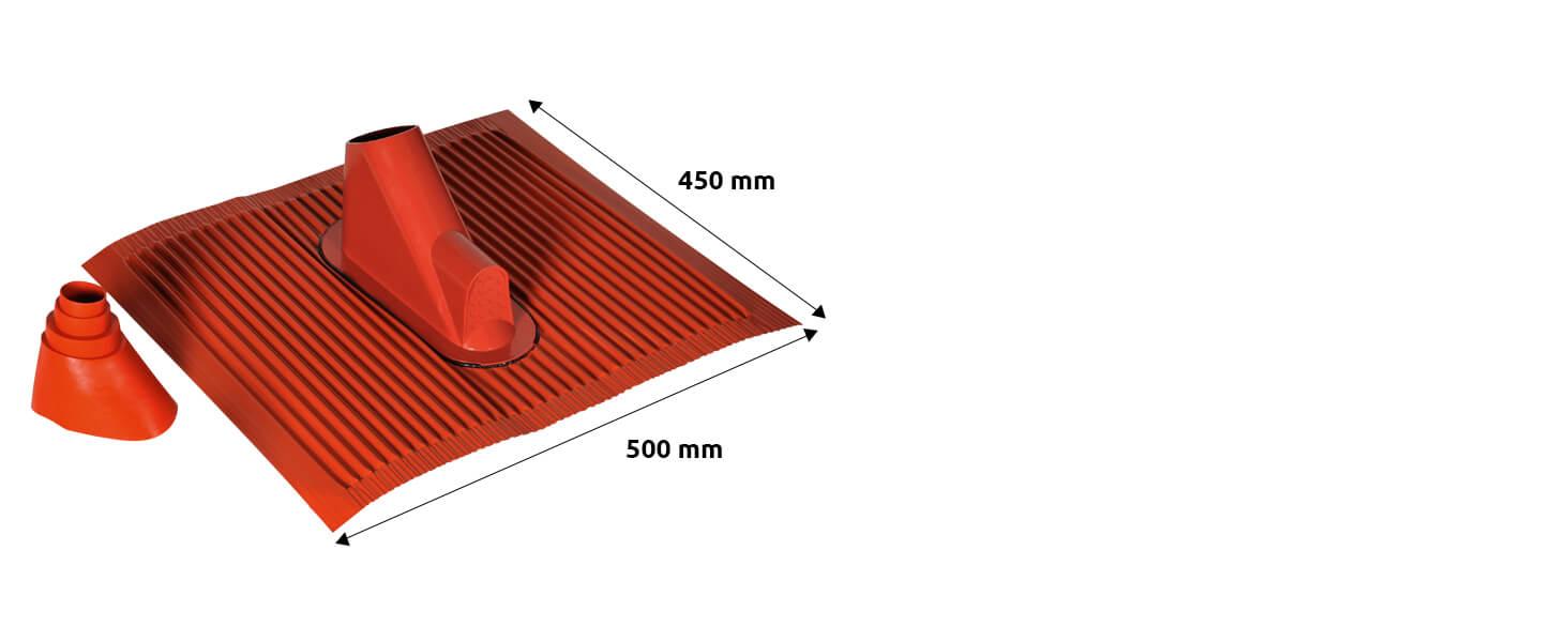 Technisat Alu Dachziegel Set Mit Gummitülle Zur Wasserdichten Mast Und Kabeldurchführung 450 X 500mm Ziegelrot Heimkino Tv Video