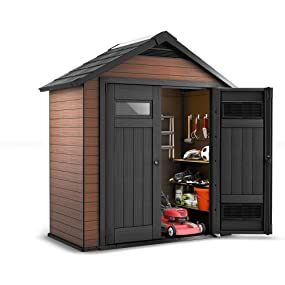 keter fusion outdoor storage sheds building patio storage - Garden Sheds With Patio