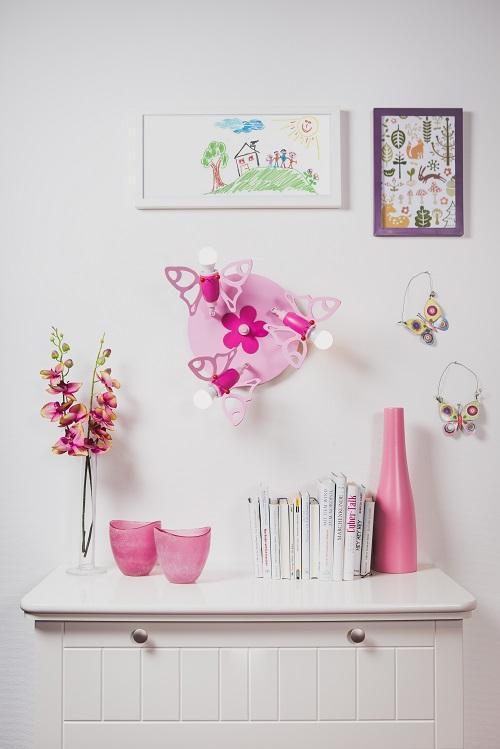 elobra kinder lampe rondell falter deckenleuchte kinderzimmer holz rosa 122839. Black Bedroom Furniture Sets. Home Design Ideas