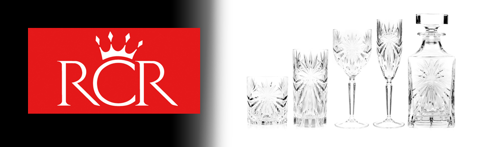 RCR Oasis collection. RCR Oasis, RCR oasis glasses, RCR Oasis glassware, RCR oasis tableware