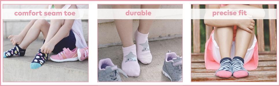 stride rite, girls socks, school socks, cotton, seamless toe, gold toe, fruit of the loom, kids sock