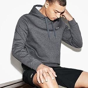 Lacoste fleece hoodie sweatshirt