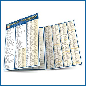 Quick Study QuickStudy Medical Terminology The Basics Laminated Study Guide BarCharts Publishing