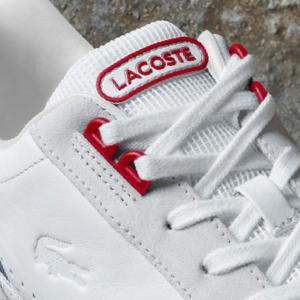 Sneaker Lacoste in pelle e mesh