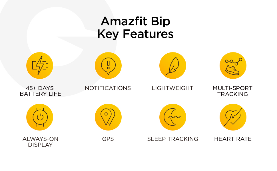 Amazfit Bip Features