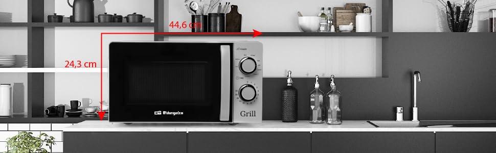 Orbegozo MIG 2138 - Microondas con grill con 20 litros de ...