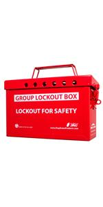 Red Group Lockout Box