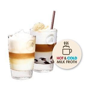 Espuma de leche caliente o fría