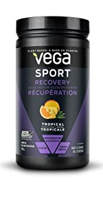 vega post workout recovery protein powder muscle repair plant based