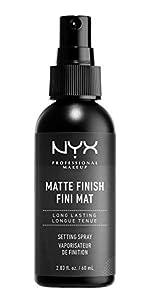 matte makeup setting spray, nyx, nyx cosmetics, nyx professional makeup