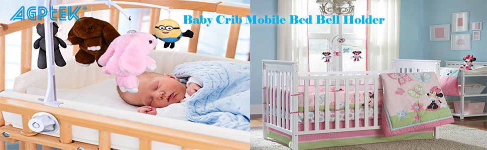 Baby Crib Holder ABS Plastic Plush Hanging Baby DIY Crib Mobile Bed Bell Toy ZH