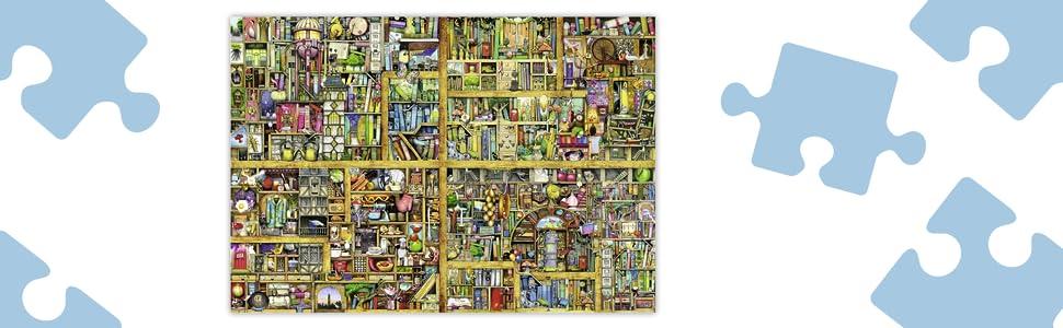Amazon Com Ravensburger Magical Bookcase 18 000 Piece