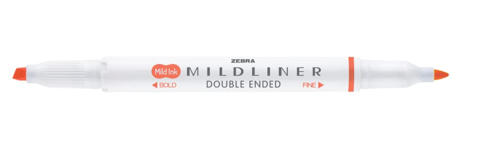 zebra mildliner, double ended mildliner, chisel tip and fine tip mildliner, mild highlighter
