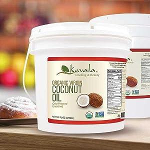Coconut Oil, Organic Oil, Cooking Oil, Organic Coconut Oil, Extra Virgin Oil, unrefined oil
