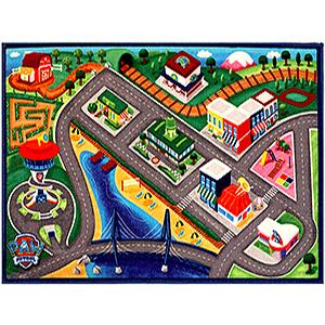Amazon Com Paw Patrol Toys Rug Marshall In Fire Truck