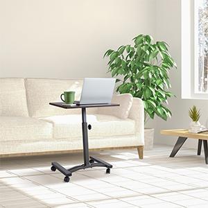 adjustable mobile rolling wooden laptop Table desk comfortable office desks home school equipment