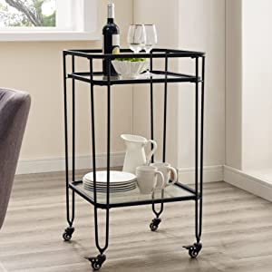 Amazon.com: Nos muebles, Metal, Negro: Kitchen & Dining