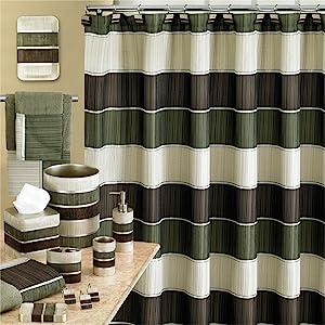 green bathroom modern accessories