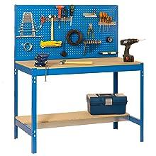 Banco de trabajo BT2 con cajón Simonwork Azul/Madera Simonrack ...