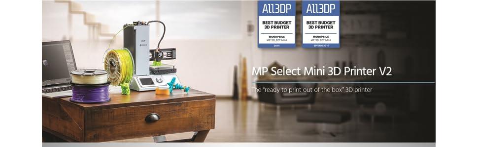 MP Select Mini 3D Printer V2