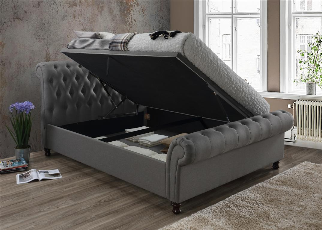 Birlea Furniture Castello Side Ottoman Bed Velvet Steel
